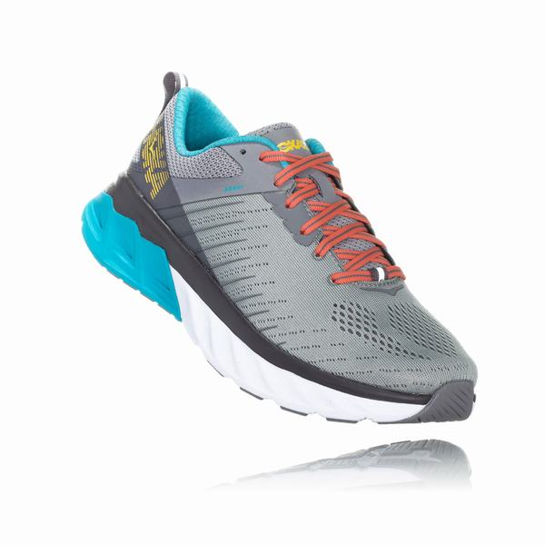 Hoka One One Arahi 3 Road Shoes Womens Grey / Blue | HF5204CW
