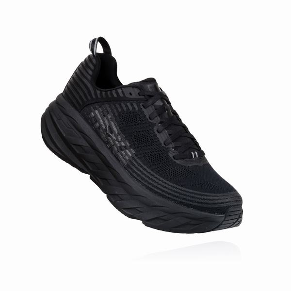 Hoka One One Bondi 6 - Marathon Season Running Shoes Womens Black | WV6286ID