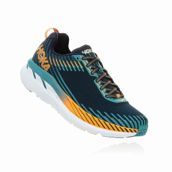 Hoka One One Clifton 5 Road Shoes Mens Black / Blue | ON1141XH